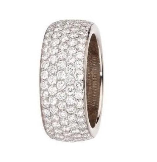 Anel Pavê Aliança 2 Quilate De Diamantes Vivar Joias
