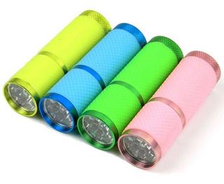 Lanterna Emborrachada Colorida Com 3 Pilhas