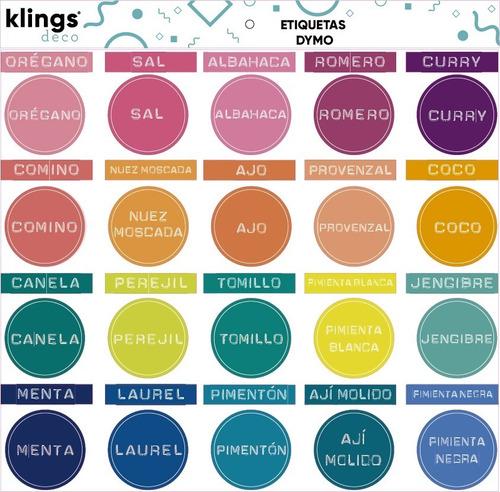 Imagen 1 de 2 de Etiquetas Condimentos Frasco Especieros Etiquetadora