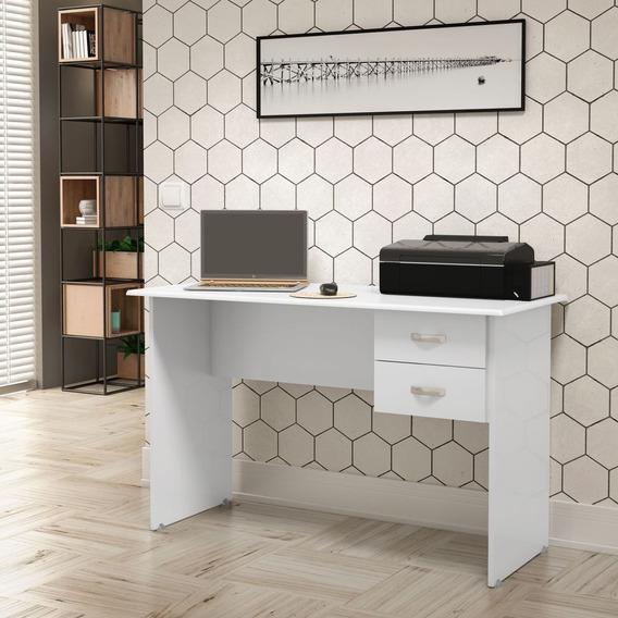 Mesa De Computador/ Escrivaninha Master- Branco - Jel Móveis