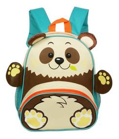 Mochila Escolar Infantil Bebê Maternal Formato De Bicho Urso