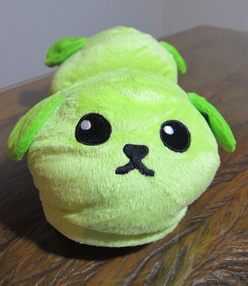 Pantufa Mameshiba Verde Feijão Com Cara Cachorro Do Japão!!
