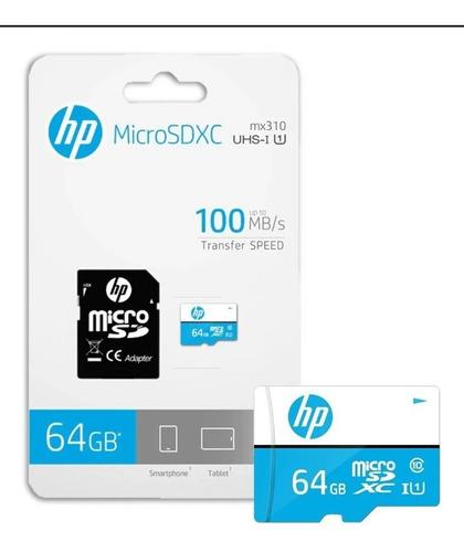 Memoria 64gb Micro Sd Con Adaptador Marca: Hp