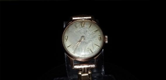 Relógio De Pulso Feminino Tressa A Corda Plaqué De Ouro
