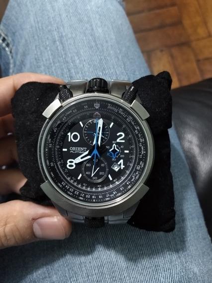 Relógio Orient Flytech Mbttc008 Titanium (chifrudinho)