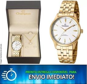 Relógio Champion Cn29516w O R I G I N A L + Kit Brinde C/ Nf