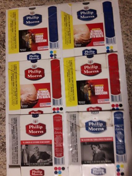 Coleção Com 6 Embalagens Philip Morris Do Chile
