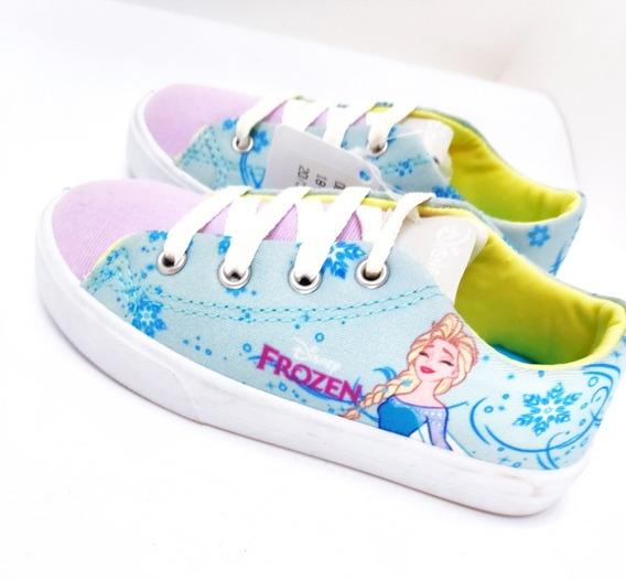 Tênis Frozen Azul Menina Infantil Personagens Disney 24 44