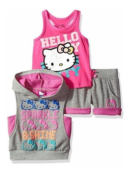 Conjunto De 3 Piezas Hello Kitty