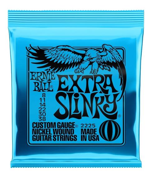 Encordoamento 008 Guitarra Extra Slinky 2225 Ernie Ball Usa