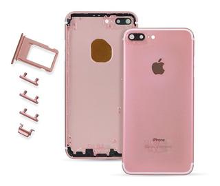 Carcasa Tapa Trasera iPhone 7 Plus Porta Sim Botones A1661