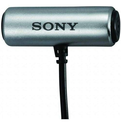 Microfone Sony Ecm-cs3 Lapela Para Tascam Zoom Voip Laptop