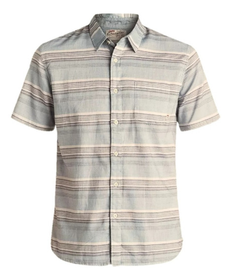 Camisa Quiksilver Mc The Aventail De Hombre 28107016 Cbe
