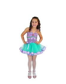 Fantasia Sereia Infantil _ Body & Saia Tutu