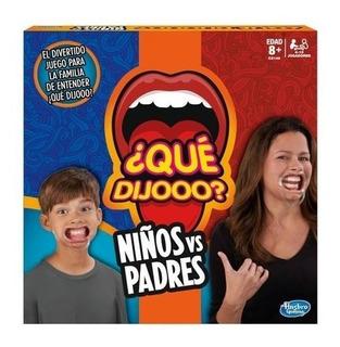 Juego Qué Dijó Niños Vs Padres - Español - Hasbro