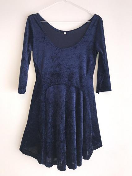 Vestido Azul Velvet Manga 3/4 T1