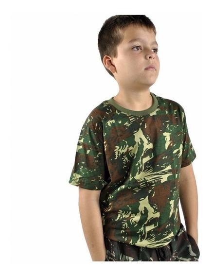 Camiseta Infantil Camuflado Elite Especial