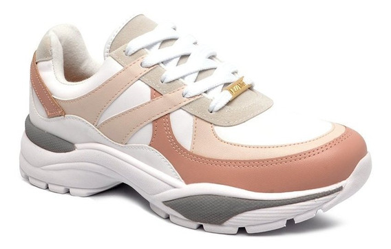 Tênis Chunky Dad Sneaker Vizzano 1331208 Branco/creme/rosa