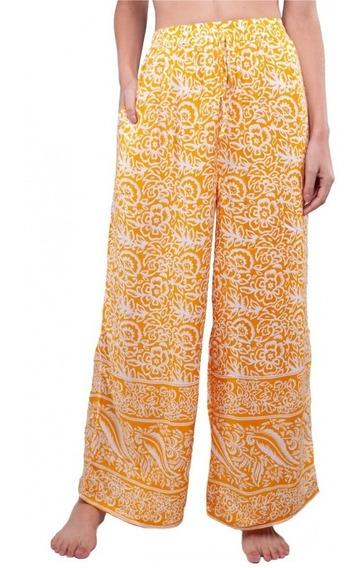 Calça Pantalona Indiana Feminina Estampada