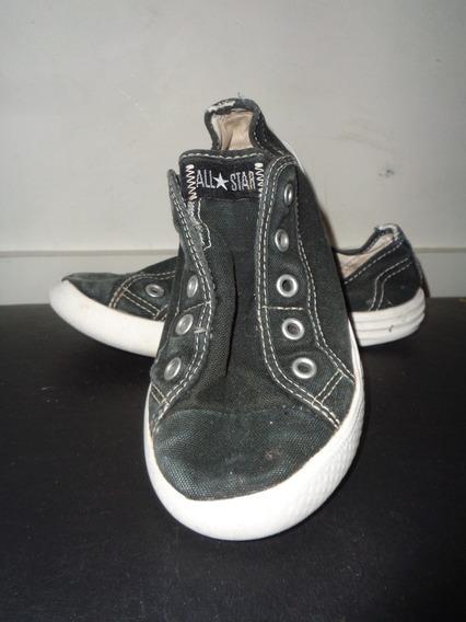 Zapatillas Converse All Star Negras Lona Nro. 32