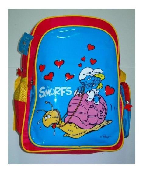 Mochila Escolar Infantil Dos Smurfs Para Criança = Meninas
