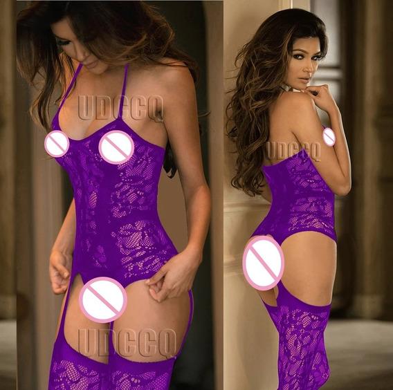 Pantimedias Tipo Body Con Liguero, Sexy Stockings