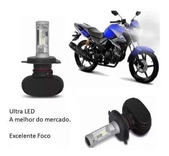 Lampada Ultra Led 6000k Farol Fazer 150 2014 Á 2018.