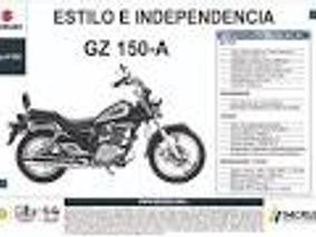 Suzuki Gz-150-a Color Negro, 150 Cc, Mod 2015, 7400 Kms