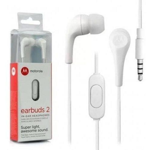 Fone De Ouvido Original Motorola Earbuds Il Branco