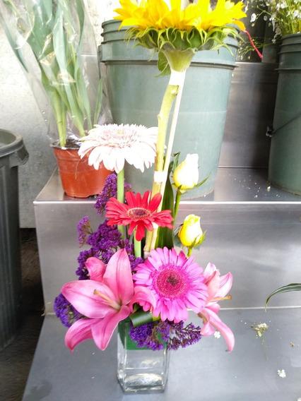 Floreros De Cristal Para Arreglos Florales En Mercado Libre