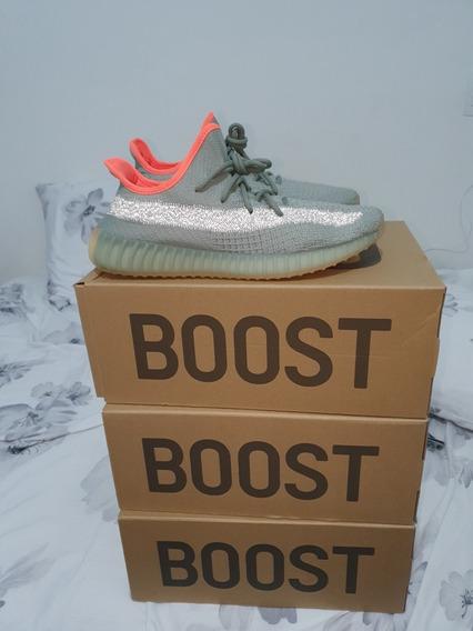 Kanye West adidas Yeezy Boost 350 V2 Desert Sage Refletivo