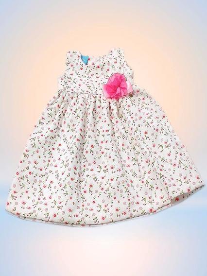Vestidos Para Bebes En Popelina Estampada Sin Manga Niñas