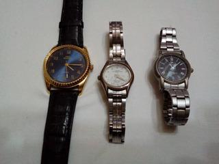 Lote De 3 Relojes Mujer Montreal Dunlop Fero Feldman