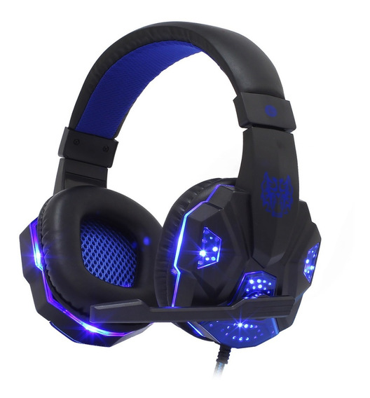 Fone Headset Gamer P2 Para Celular Ps4 Pc Xbox One Led Bass