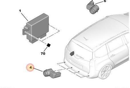 Sensor Estacionamiento Delantero Peugeot 5008 1.6 Allure