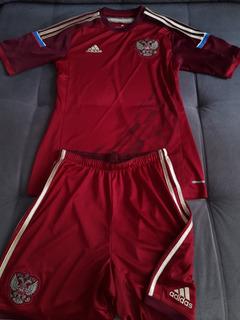 Uniforme Completo Camisa Calção Da Seleção Da Russia adidas