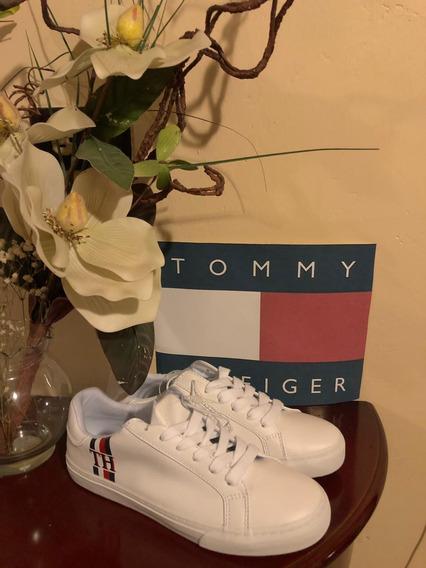 Tenis Tommy Hilfiger Color Blanco Para Dama