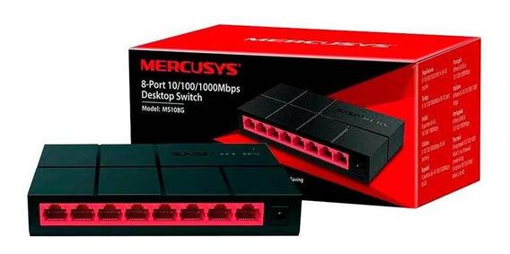 Switch Gigabit De 8 Portas 10/100/1000 Mbps Ms108g Mercusys