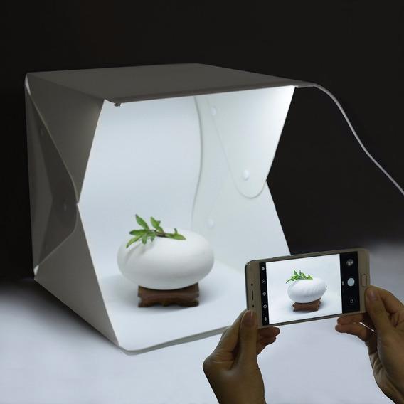 Mini Estudio Studio Fotografico Fotos Com Leds Usd 24x23x22