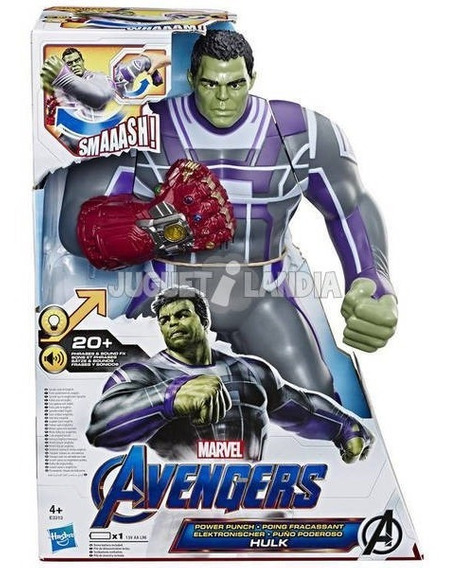 Hulk Puño Poderoso Avengers End Game Frases, Sonidos Y Luces