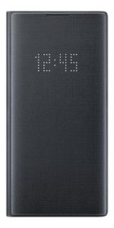 Funda Samsung Led View Cover Galaxy Note10+ Negro Ef-nn975