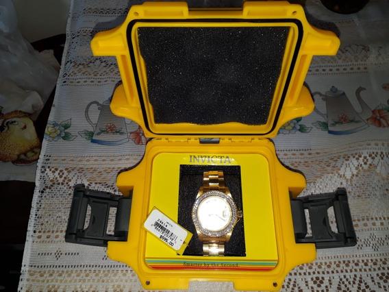 Relógio Invicta Feminino 24614 Banhado A Ouro 100%original