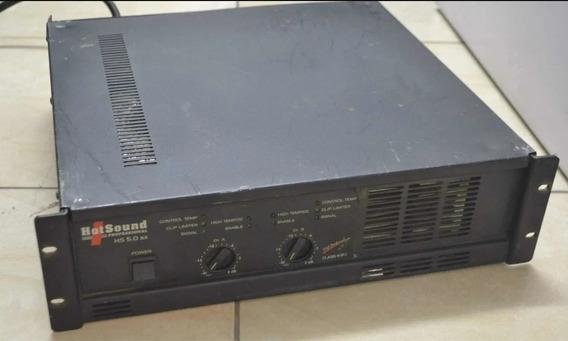 Amplificador De Potência Hotsound 5.0 Usado 100% Funcionando