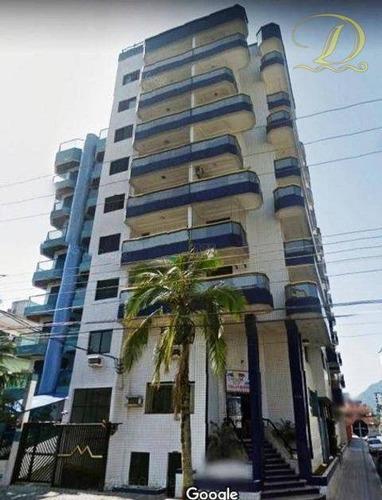 Apartamento Com 2 Dormitórios À Venda, 100 M² Por R$ 330.000 - Vila Guilhermina - Praia Grande/sp - Ap4071