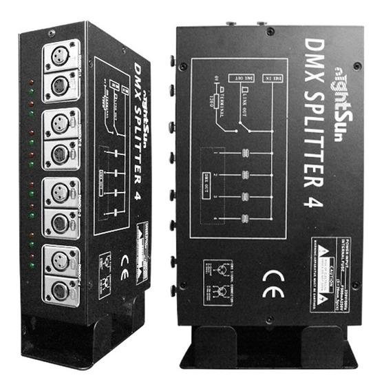 Amplificador Dmx De 4 Vías Nightsun Gm035