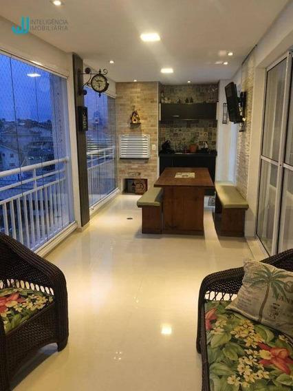 Apartamento Com 3 Dormitórios À Venda, 148 M² Por R$ 850.000,00 - Vila Nova Socorro - Mogi Das Cruzes/sp - Ap0790