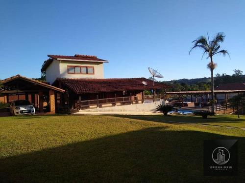 Chácara Com 5 Dormitórios À Venda, 3000 M² Por R$ 1.700.000,00 - Perímetro Urbano - Sarapuí/sp - Ch0009