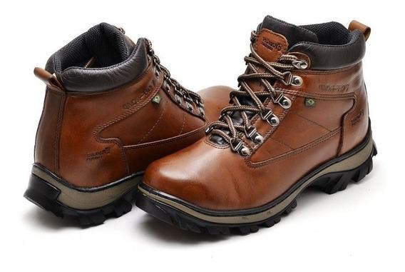 Bota Botinha Sapato Casual Masculino De Couro Legitimo