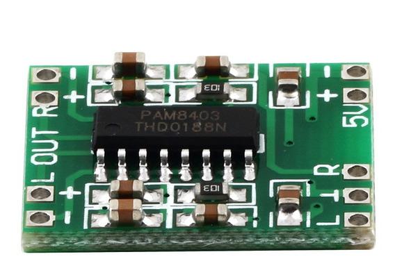 Verde Pam8403 Super Mini Placa Amplificador Digital 2 * 3 W