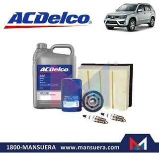 Kit Aceite Filtros Bujias Acdelco Chevrolet Grand Vitara Sz